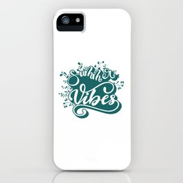 Summer Vibes Lettering Design iPhone Case