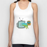 tv Tank Tops featuring TV by Satyrbug