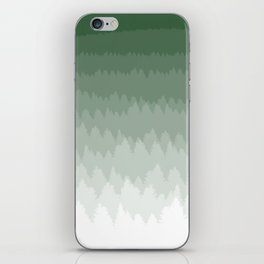 Green Ombré Forest iPhone Skin