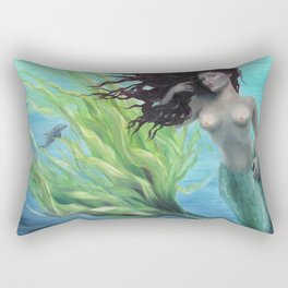 Calypso Nude Mermaid Underwater Rectangular Pillow