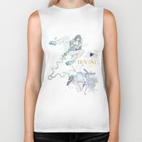 pisces Biker Tanks featuring PISCES by Chandelina