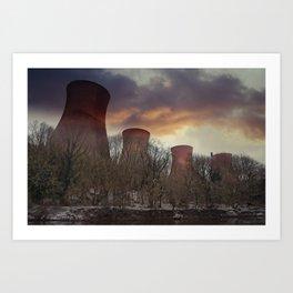 Sunset At Ironbridge Power Station Art Print