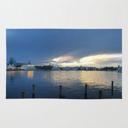 Boardwalk Landscape On Lake Rug