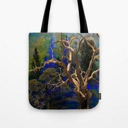 CONTEMPORARY BLUE  WILDERNESS ART  DESIGN Tote Bag