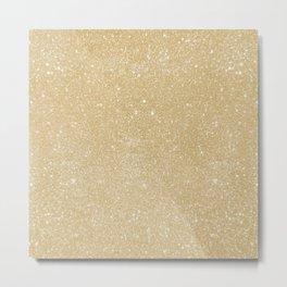 Pastel Camel Glitter Metal Print