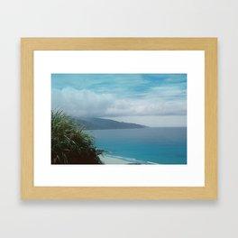 Rainy blue  Framed Art Print