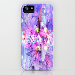 LILY IN LILAC AND LIGHT iPhone Case