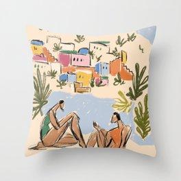 Italian Riviera Throw Pillow