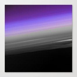 Purple Gray Black Smooth Ombre Canvas Print