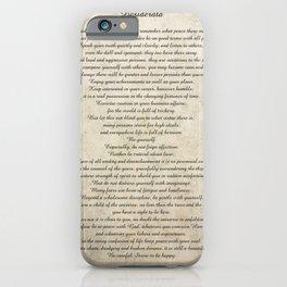 Desiderata Poem By Max Ehrmann Nr. 1001-1 iPhone Case