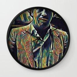 Pablo Escobar Artistic Illustration Picasso Style Wall Clock