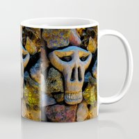 minerals Mugs featuring skull and minerals by giol's