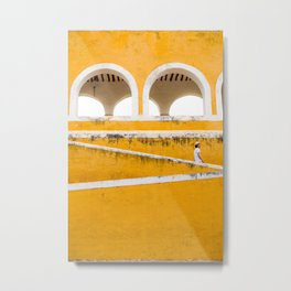 Colonial Mexico, Izamal in Yellow #buyart #society6 #decor Metal Print