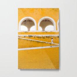 Colonial Mexico, Izamal in Yellow #buyart #society6 #decor Metal Print