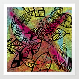 Crazy Leaves  Art Print