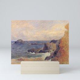 """Paul Gauguin - Seascape """"Rochers au bord de la mer"""" or """"La Côte rocheuse"""" (1886) Mini Art Print"""