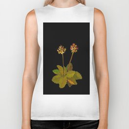 Saxifragia Nivalis Mary Delany Floral Paper Collage Delicate Vintage Flowers Biker Tank