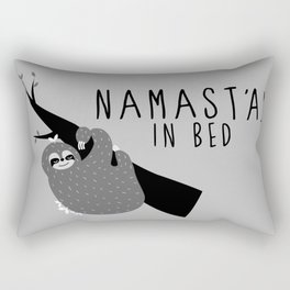 namast'ay in bed sloth Rectangular Pillow