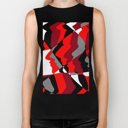 Profiles in Red, Maroon, Black, Gray and White Biker Tank