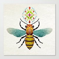 bee Canvas Prints featuring bee by Manoou