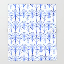 Art Deco Blue #pattern #illustration Throw Blanket