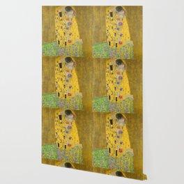 Gustav Klimt The Kiss Detail Wallpaper