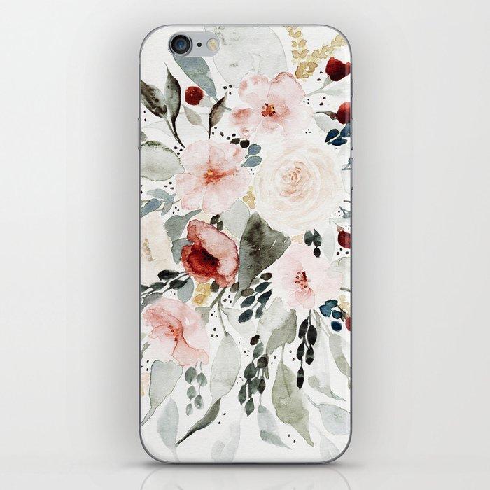 Loose Watercolor Bouquet iPhone Skin