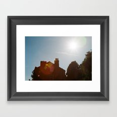 Hebden rooves Framed Art Print