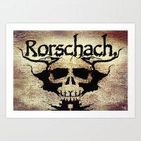 rorschach Art Prints featuring Rorschach by Dominic Mastracchio