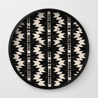 navajo Wall Clocks featuring NAVAJO by bows & arrows