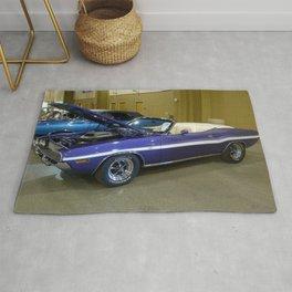 1970 Plum Crazy Purple 426 Hemi Challenger RT Convertible color photograph / photography  Rug