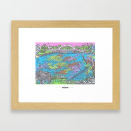 MADink Wickford Hussey Bridge Framed Art Print