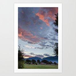 """""""Le ciel en feu"""" Art Print"""