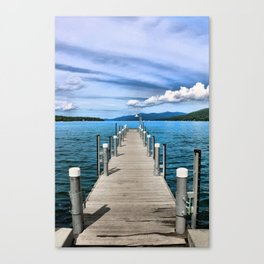 Stepping to the Sea Canvas Print