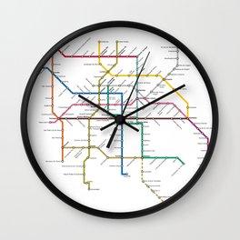 mexico city subway metro map Wall Clock