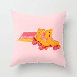 L8R SK8R - shooting star rollerskates Throw Pillow