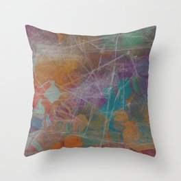 Abstract Subdued Colors 2 Throw Pillow