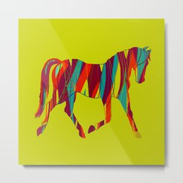 Ribbon Horse Metal Print