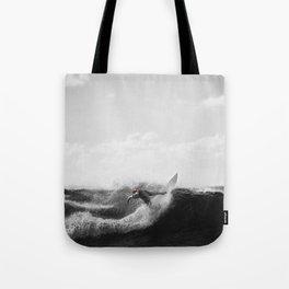 surf santa - power slide Tote Bag