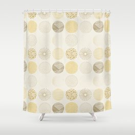 Decorative Pattern in Brown and Beige Shower Curtain