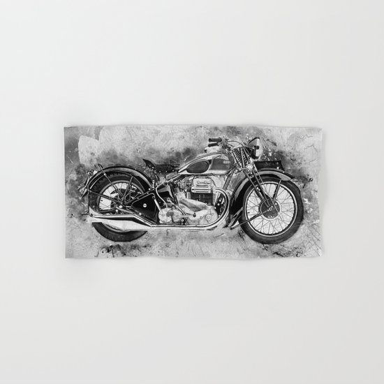 Vintage Motorcycle No2 Hand & Bath Towel
