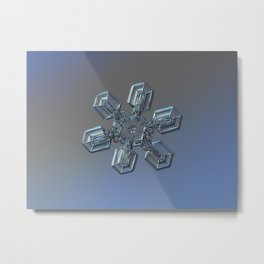 Real snowflake macro photo - High voltage Metal Print