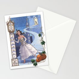Every Girl Is A Princess 02: Cinderella Escaping From The Ball Stationery Cards