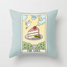 CAKE READING Throw Pillow