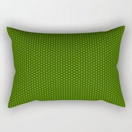 Green Wheels Rectangular Pillow