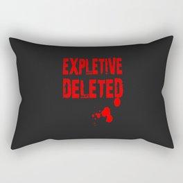 Expletive Deleted Rectangular Pillow
