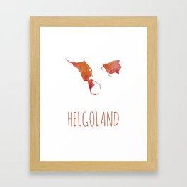 Helgoland Framed Art Print