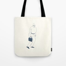 man with briefcase Tote Bag