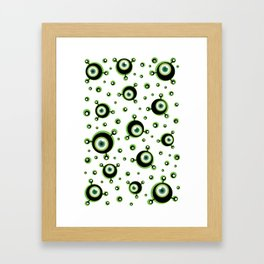 Justified Paranoia Green Framed Art Print