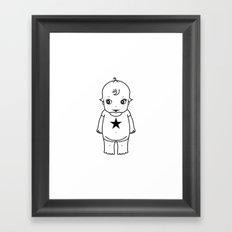 kewpie lineart Framed Art Print